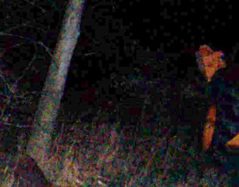Ghost images at Haunted Sachs Covered Bridge in Gettysburg